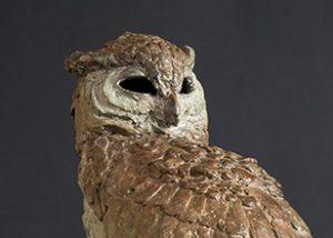 Eagle Owl bronze statue