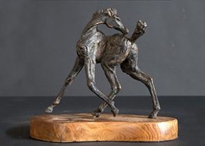 statue of foal