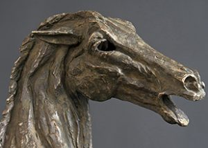 Horse Study Angry statue