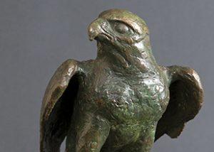 Peregrine bronze statue