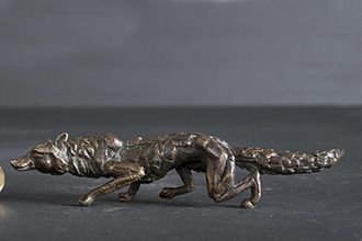 Mini Sculpture - Prowling Leopard