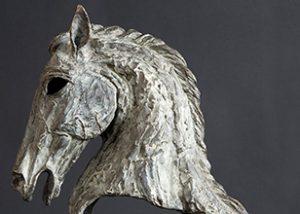 Stallion bronze head