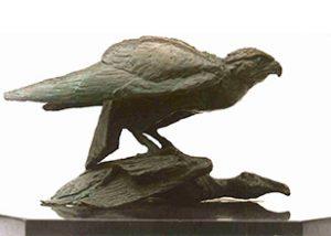 birds the kill bronze statue