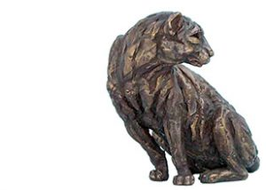 miniatures little leopard bronze statue