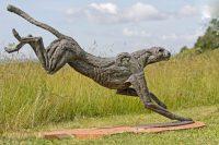 sculpture artwork jan sweeney big landing cheetah 1