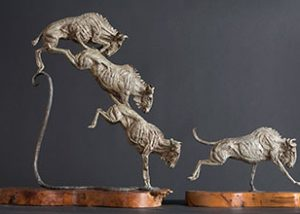 Wildebeast statues