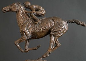 Racehorse sculpture