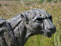 Big Turning Cheetah bronze statue