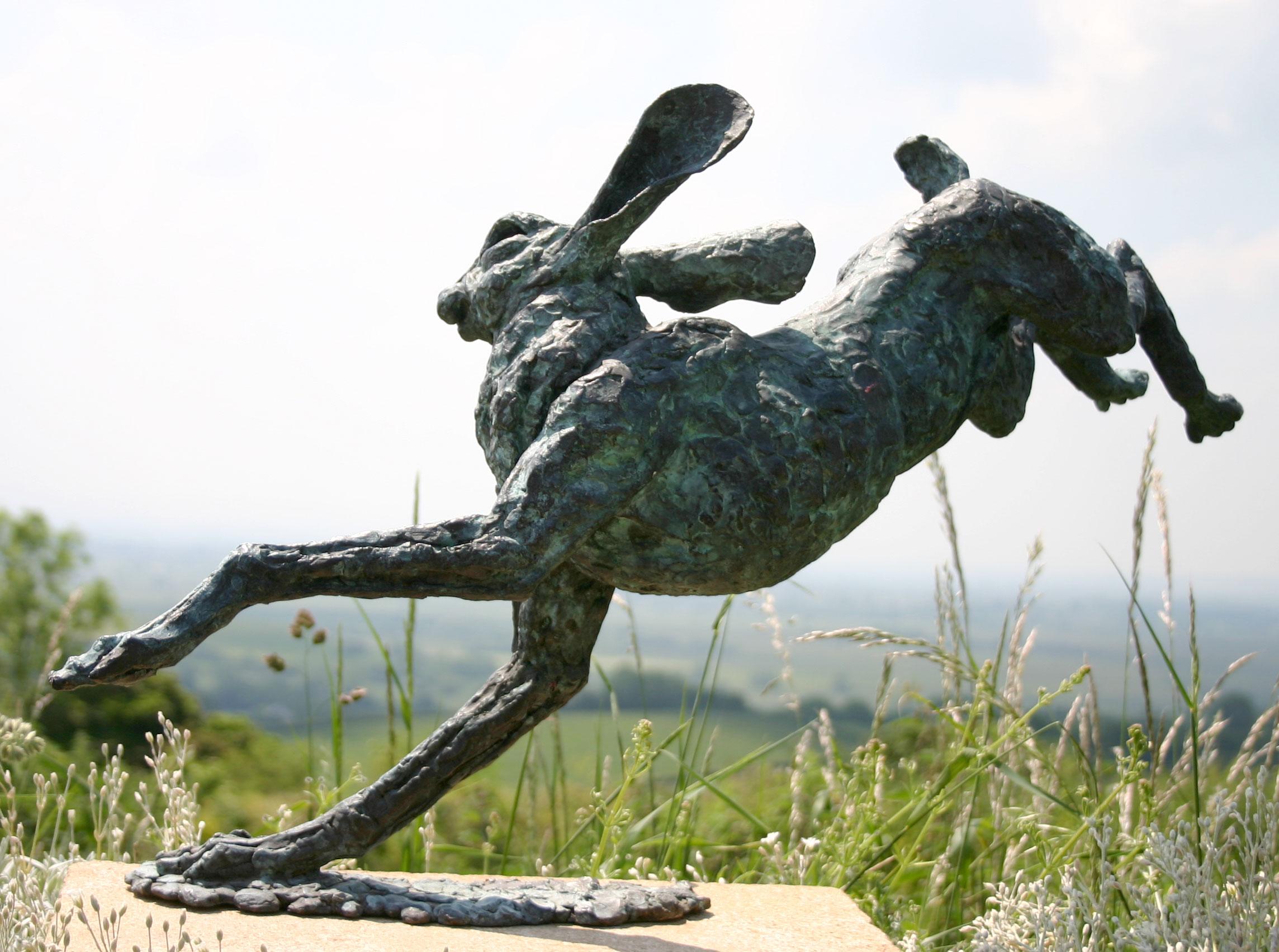 Catch Me bronze hare