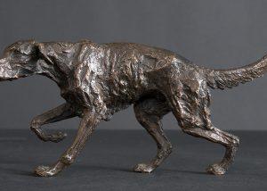 Setter Pointing bronze statute